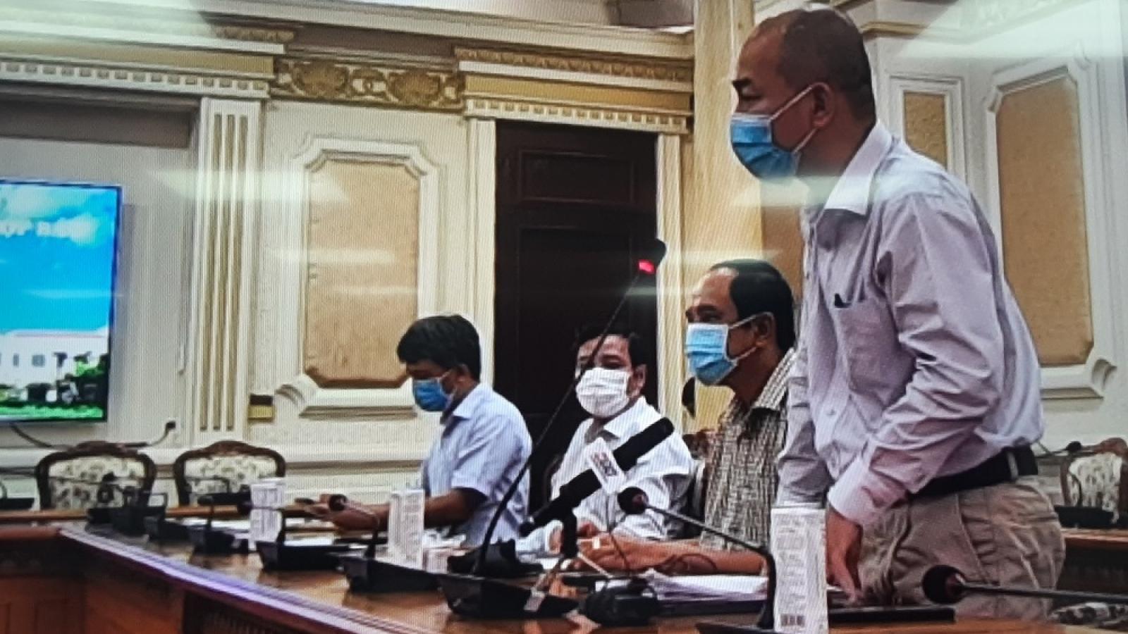 TP.HCM đảm bảo phòng chống dịch Covid-19 tại chợ hoa Đầm Sen