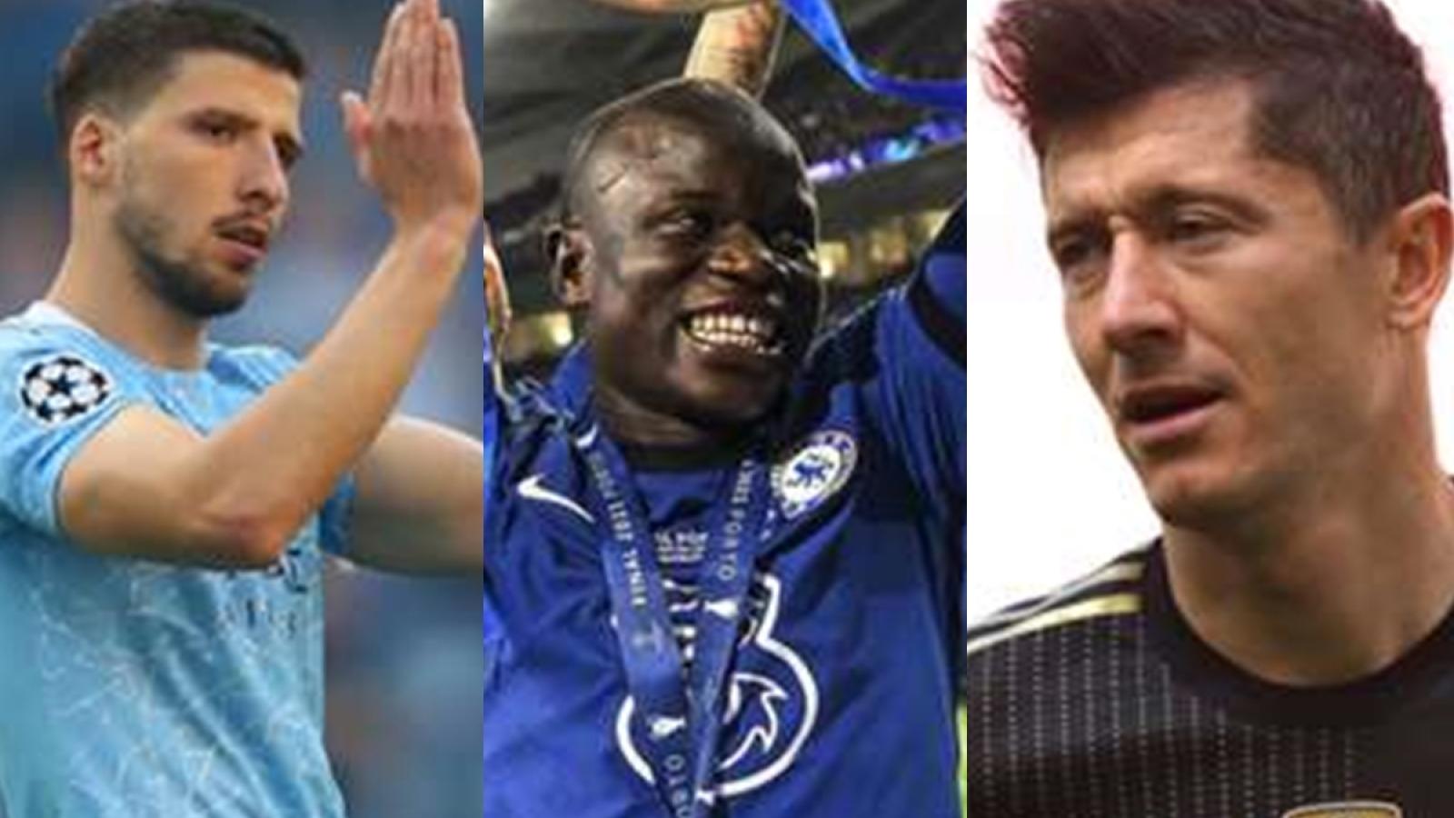 Top 10 ứng viên Quả bóng Vàng 2021: N'Golo Kante dẫn đầu