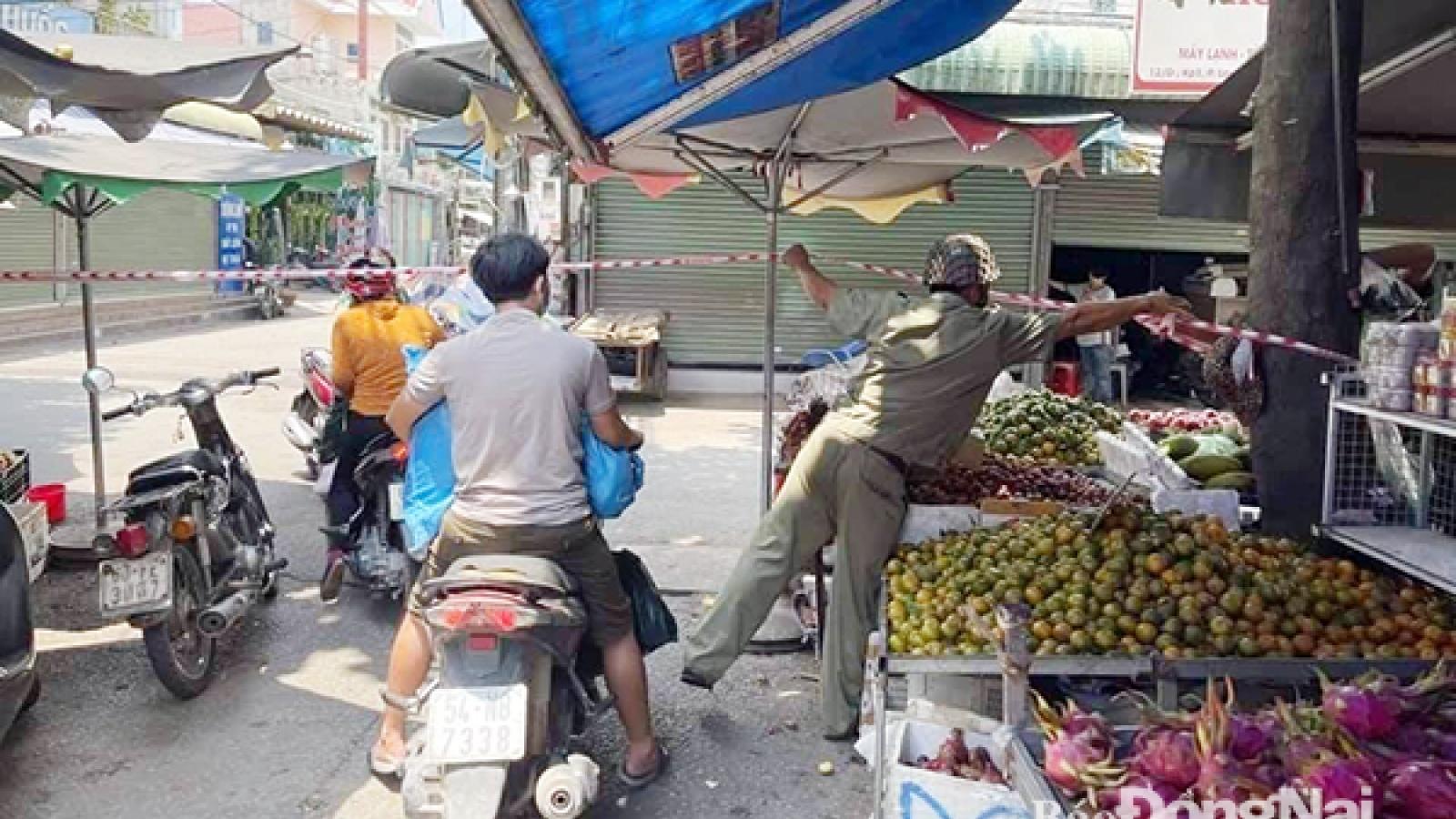 Đồng Nai phong tỏa chợ An Bình vì liên quan ca mắc Covid-19