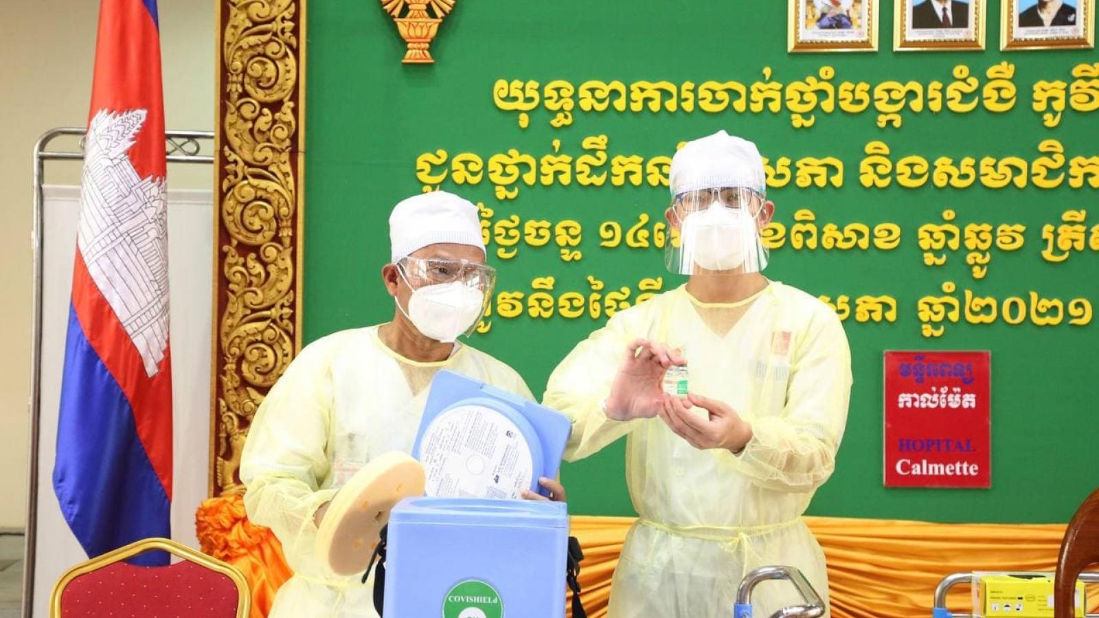 Campuchia có kế hoạch tiêm phòng Covid-19 cho khoảng 10 triệu người vào tháng 11 tới
