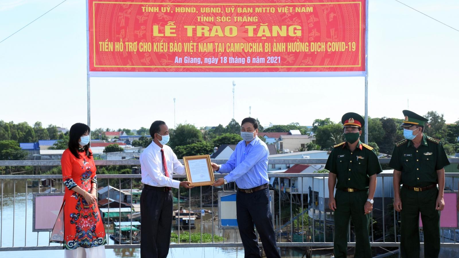 Sóc Trăng hỗ trợ cộng đồng bà con gốc Việt tại Campuchia
