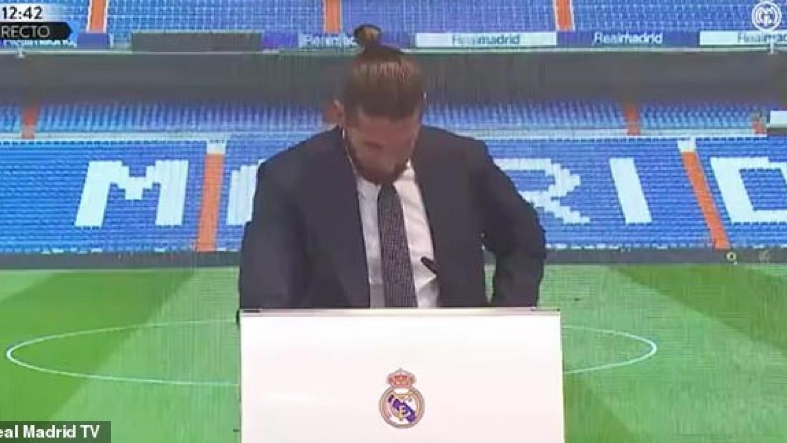 Ramos bật khóc, tiết lộ sự thật phũ phàng khi chia tay Real Madrid