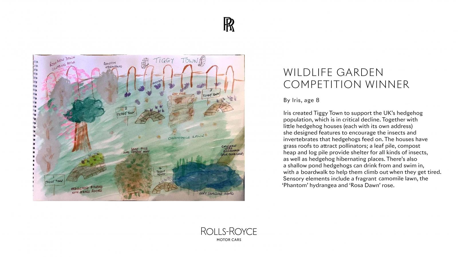 Rolls-Royce truyền cảm hứng cho trẻ em thông qua cuộc thi Wildlife Garden