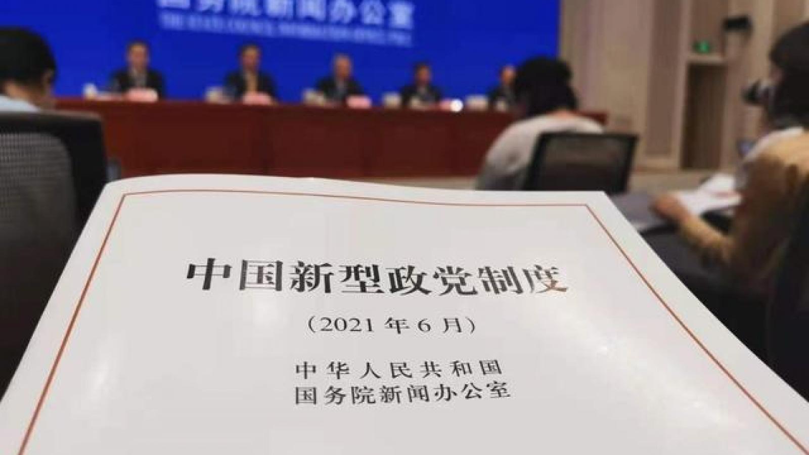 Trung Quốc công bố Sách Trắng về chế độ chính đảng kiểu mới