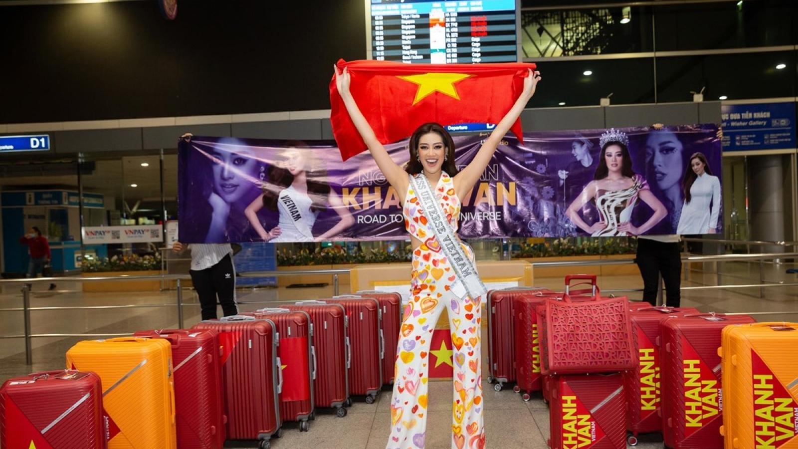 """Hoa hậu Khánh Vân: """"Tôi vui vẻ, hài lòng với vị trí top 21 Miss Universe"""""""
