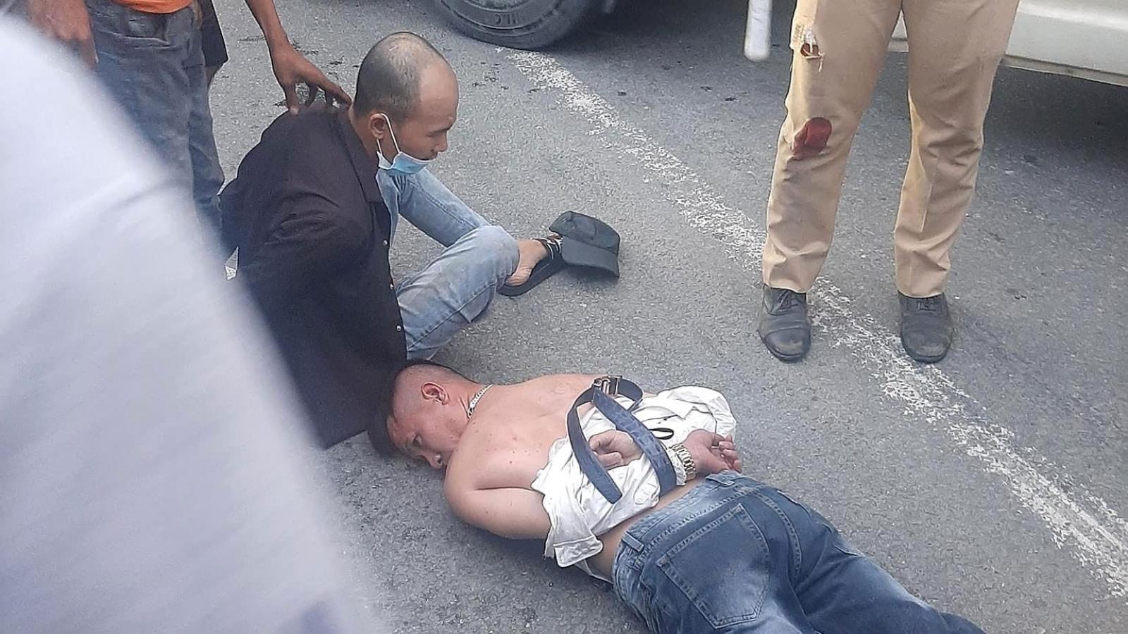 Tài xế dương tính với ma túy tông xe vào cảnh sát giao thông