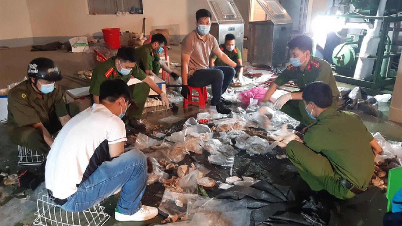Giấu ma túy vào nội tạng lợn và mô tơ điện để đem sang Trung Quốc