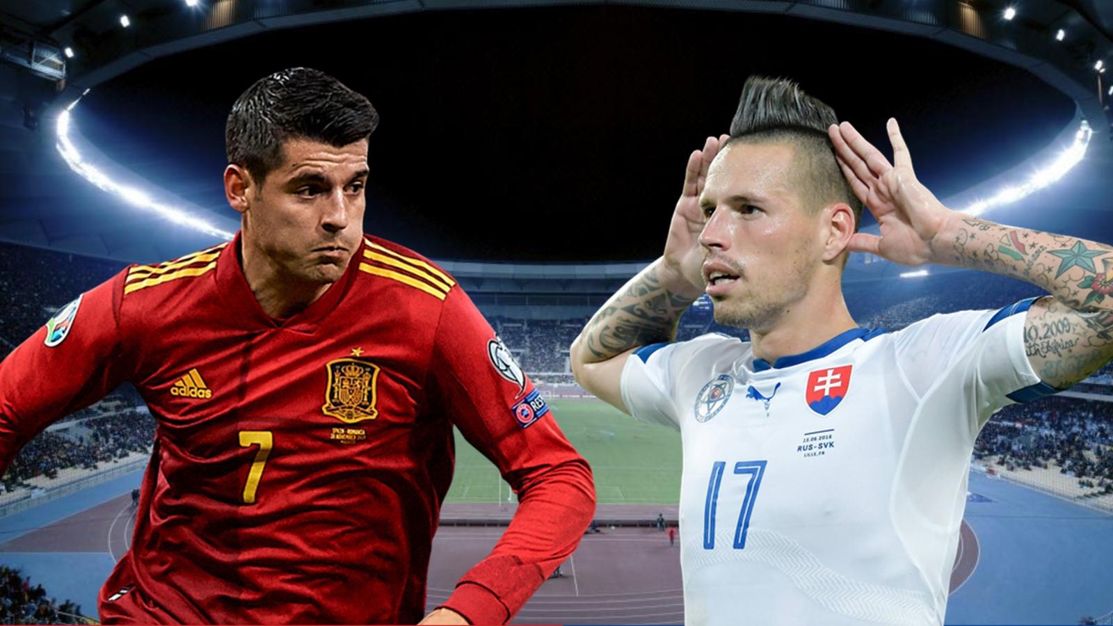 Dự đoán tỷ số, đội hình xuất phát trận Tây Ban Nha - Slovakia