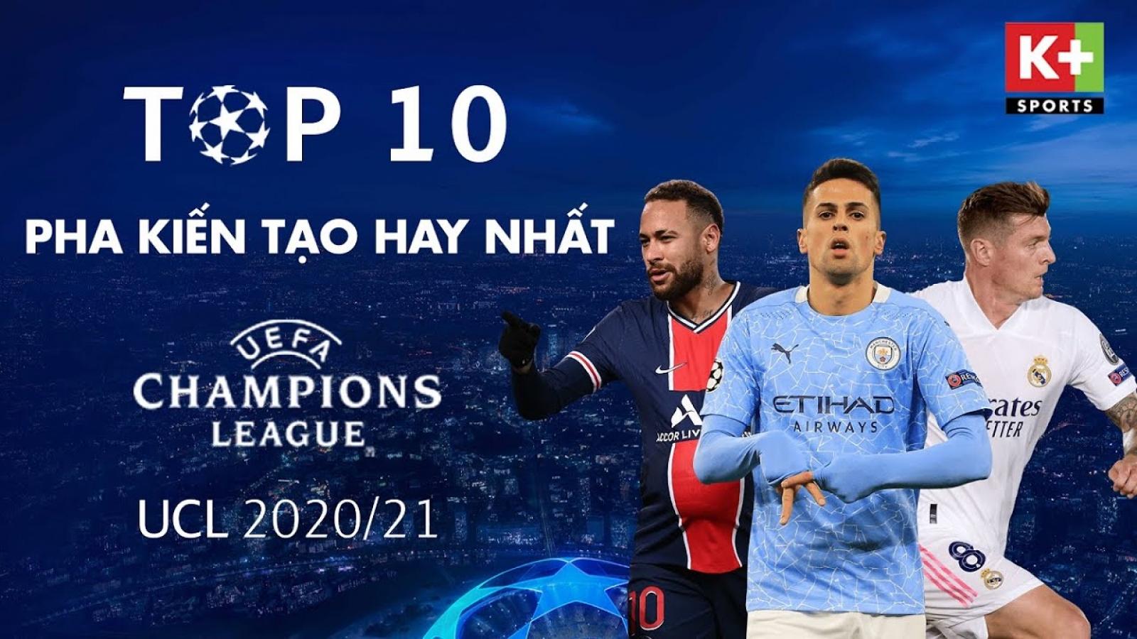 Top 10 pha kiến tạo xuất sắc nhất Champions League 2020/2021