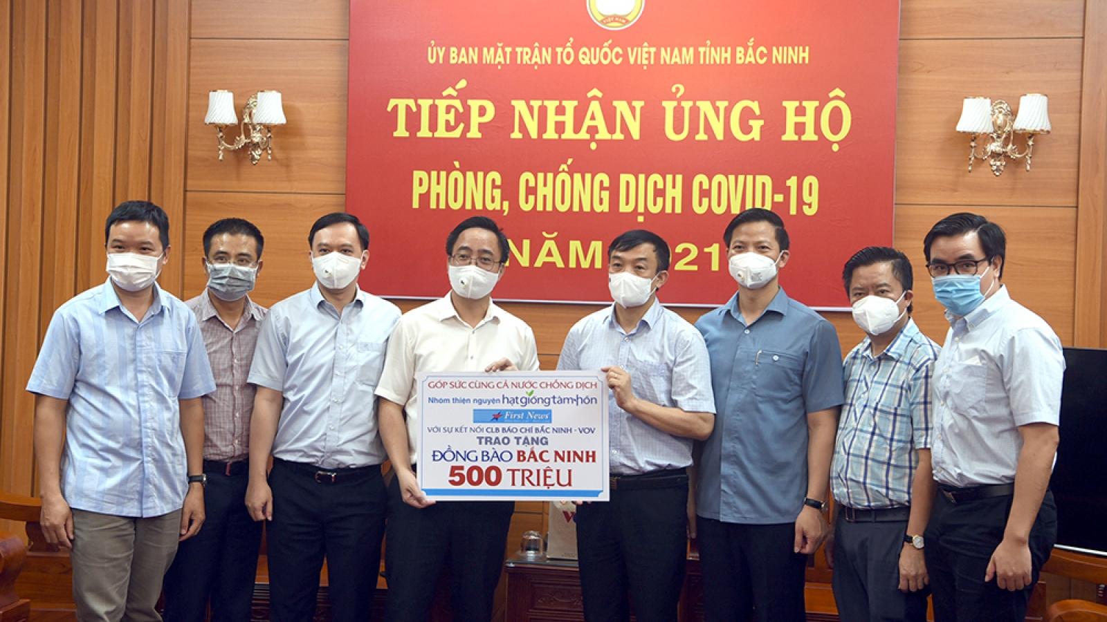 VOV và nhóm Hạt Giống Tâm Hồn trao 1 tỷ đồng giúp Bắc Ninh, Bắc Giang chống dịch