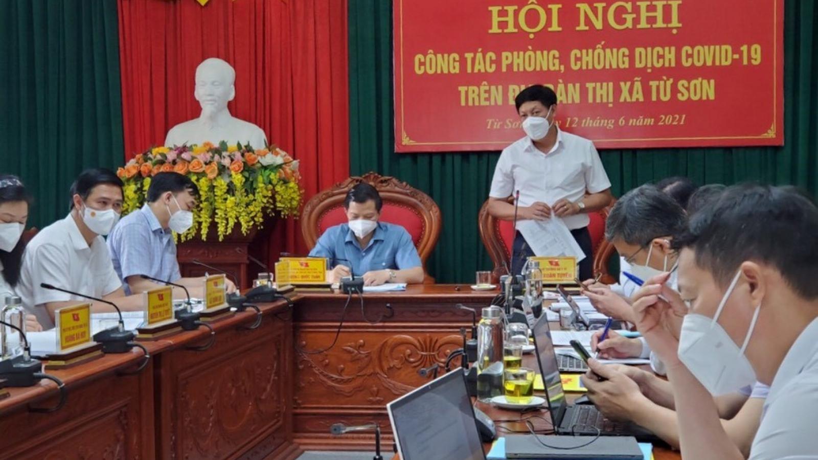 Thị xã Từ Sơn (Bắc Ninh) đề xuất giảm mức độ giãn cách