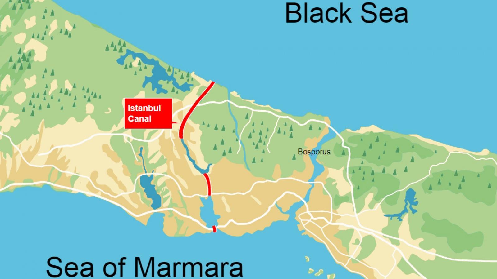 """Tranh cãi về """"siêu dự án"""" kênh đào Istanbul của Thổ Nhĩ Kỳ"""