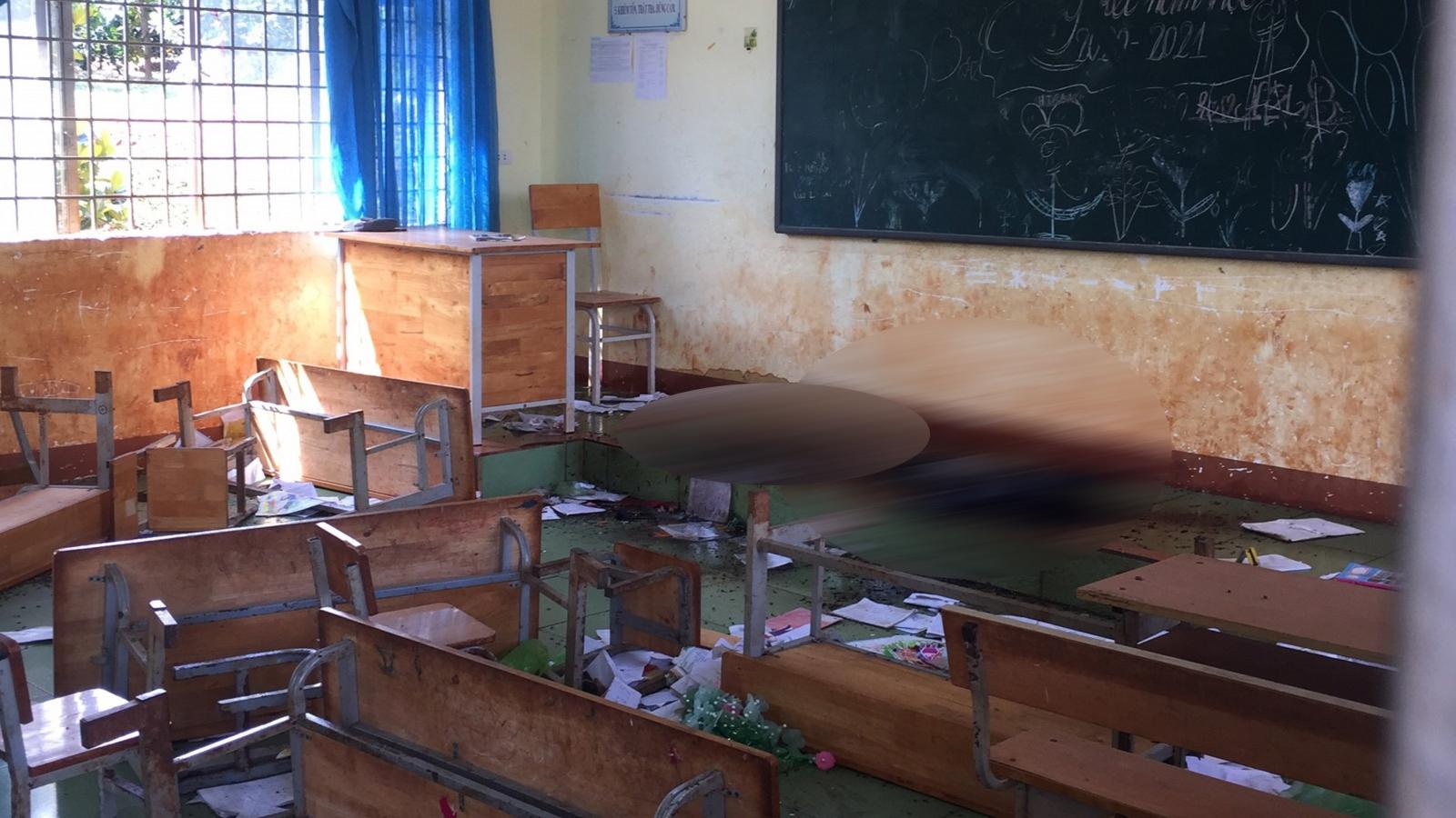 Phát hiện thi thể thiếu nữ đang phân hủy trong phòng học ở Đắk Lắk