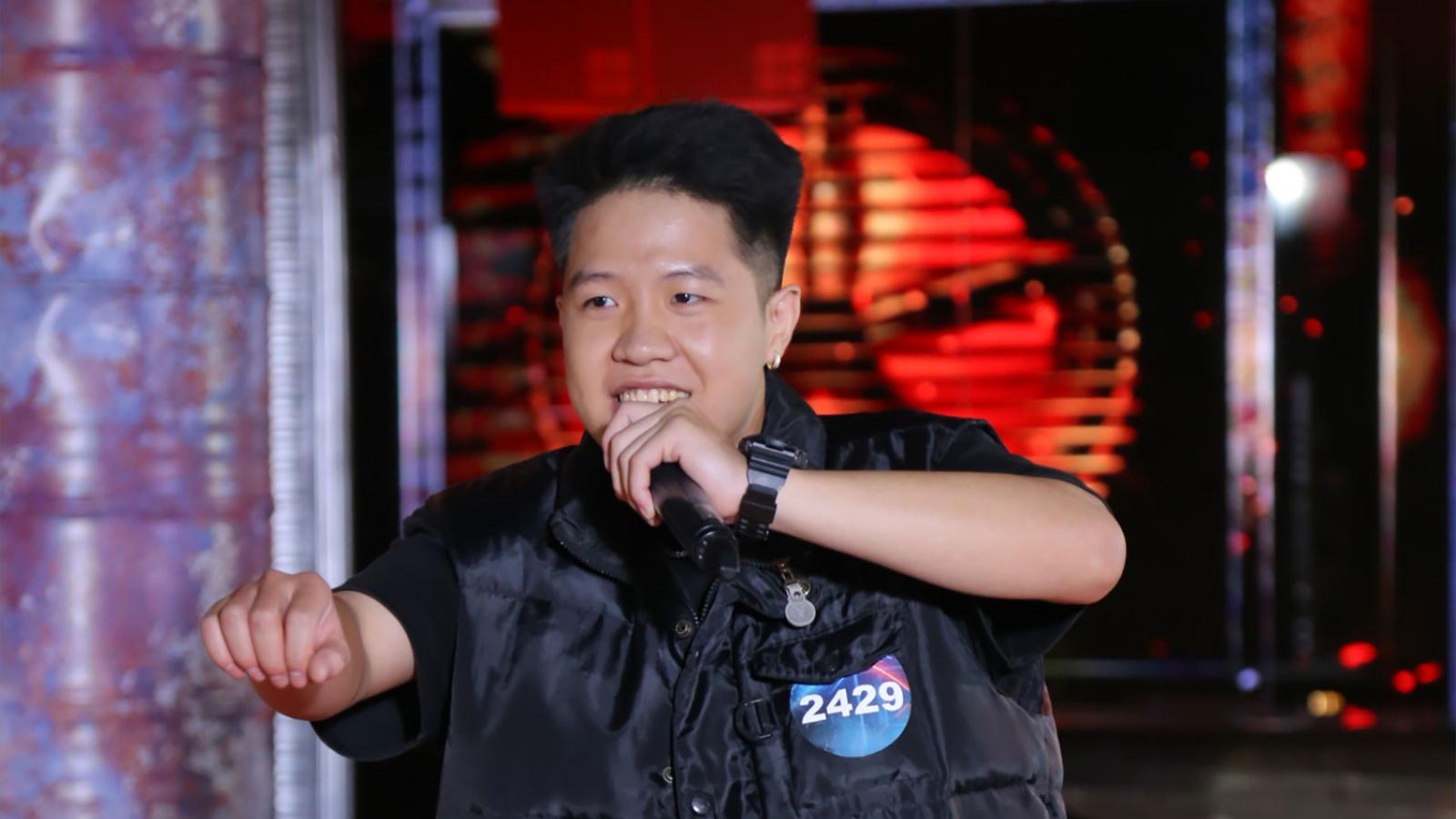 """Từng bị loại tại mùa 1, chàng rapper """"lột xác"""" ngoạn mục tại vòng casting Rap Việt 2"""