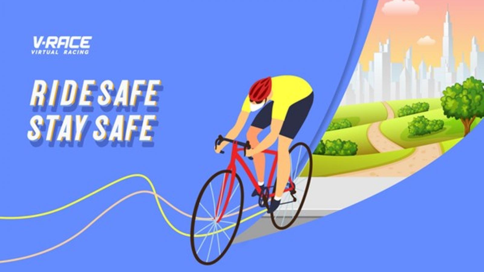 First-ever virtual cycling race held on V-race platform