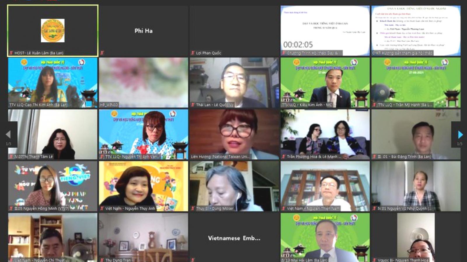 Chia sẻ kinh nghiệm dạy và học tiếng Việt từ nhiều quốc gia