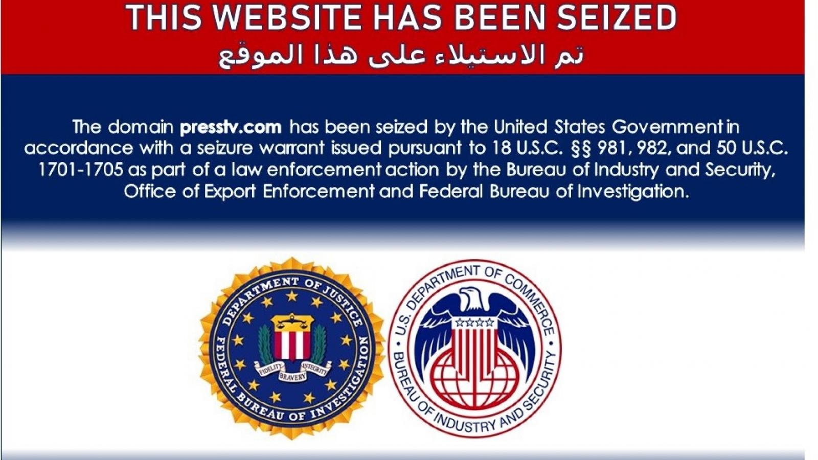 Mỹ gỡ bỏ hàng chục trang web liên quan tới Iran