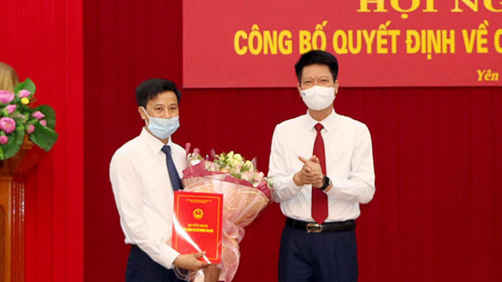 Phó Giám đốc Sở GD-ĐT giữ chức Chánh Văn phòng UBND tỉnh Yên Bái