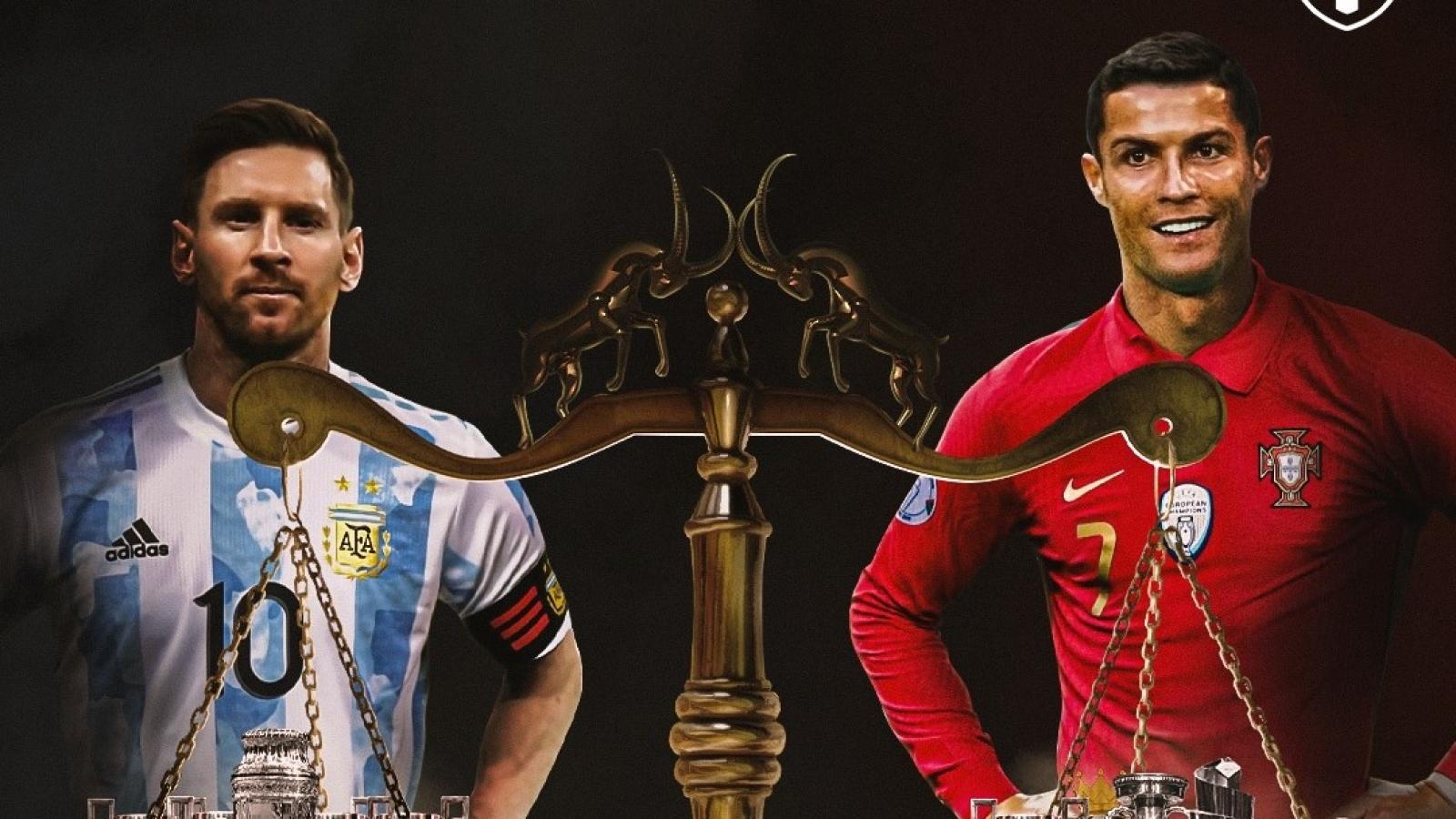 """Biếm họa 24h: Messi có sự cân bằng """"toàn diện"""" với Ronaldo khi vô địch Copa America 2021"""