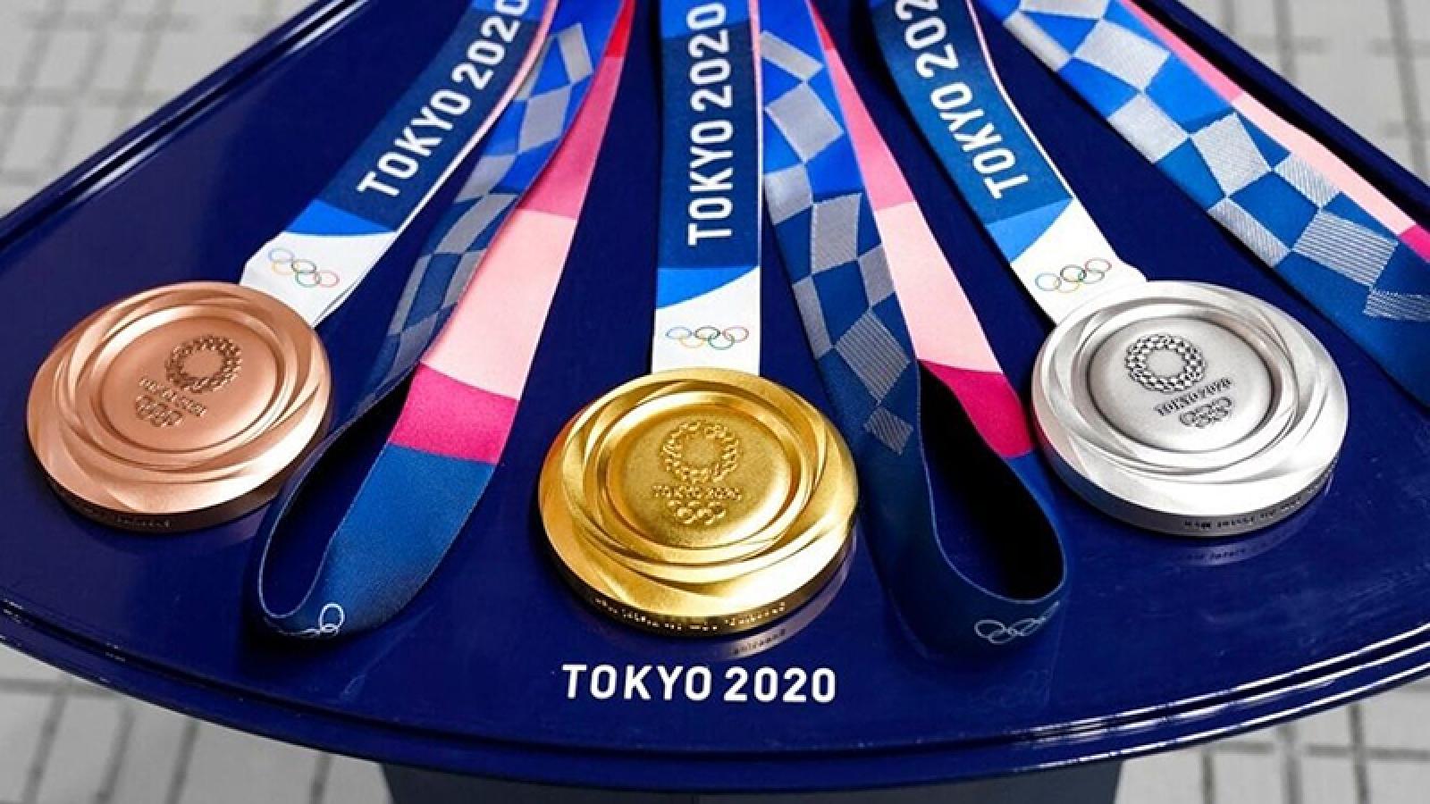 Huy chương Olympic 2020 được làm từ thiết bị điện tử tái chế