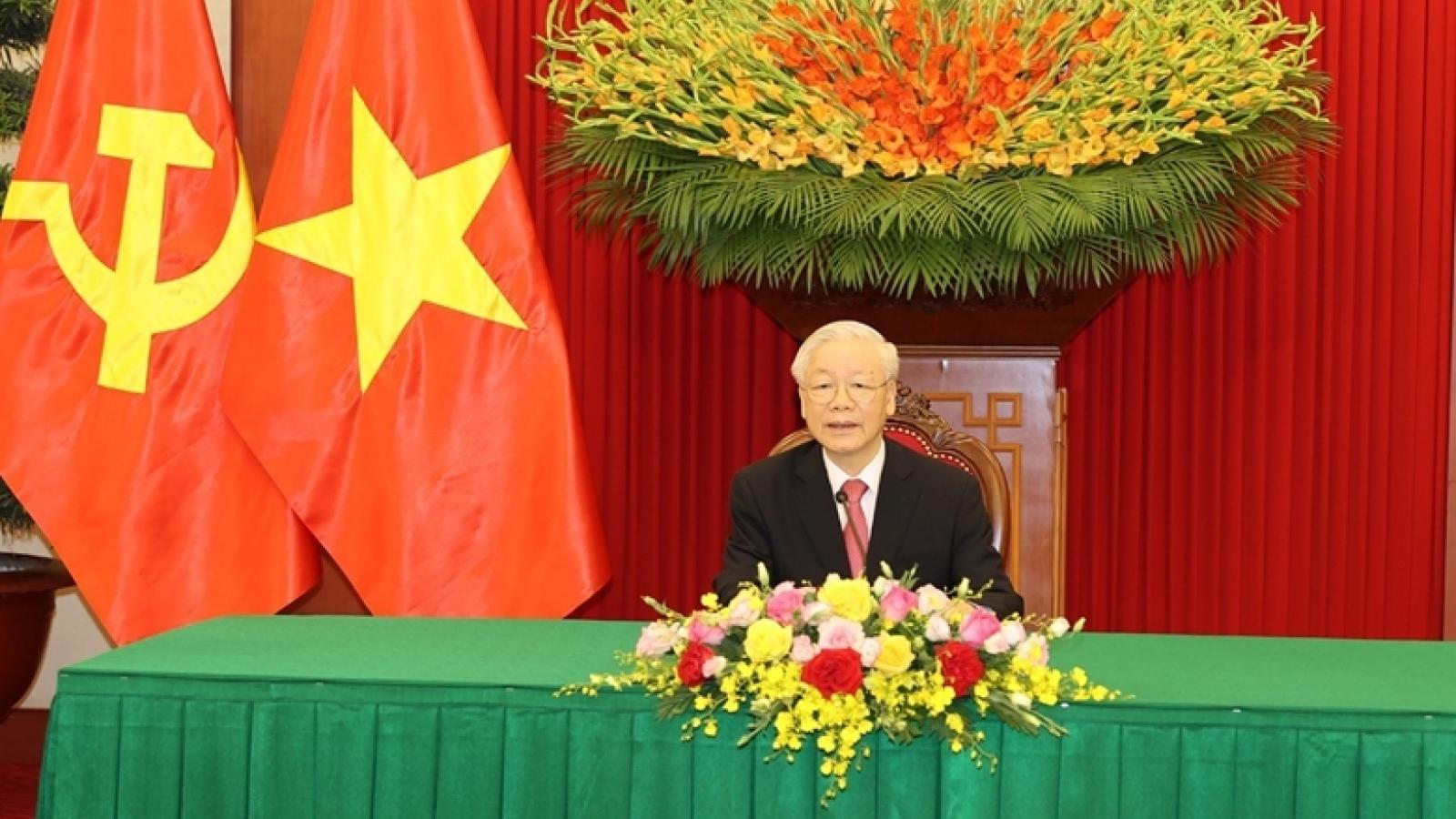 Tổng Bí thư Nguyễn Phú Trọng điện đàmvới Bí thư thứ nhất Đảng Cộng sản Cuba