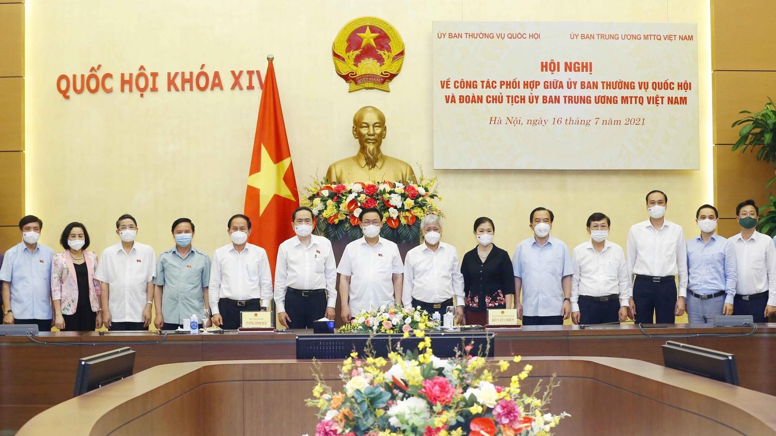 Quốc hội, MTTQ Việt Nam cần sớm nghiên cứu để tiếp tục hoàn thiện pháp luật về bầu cử
