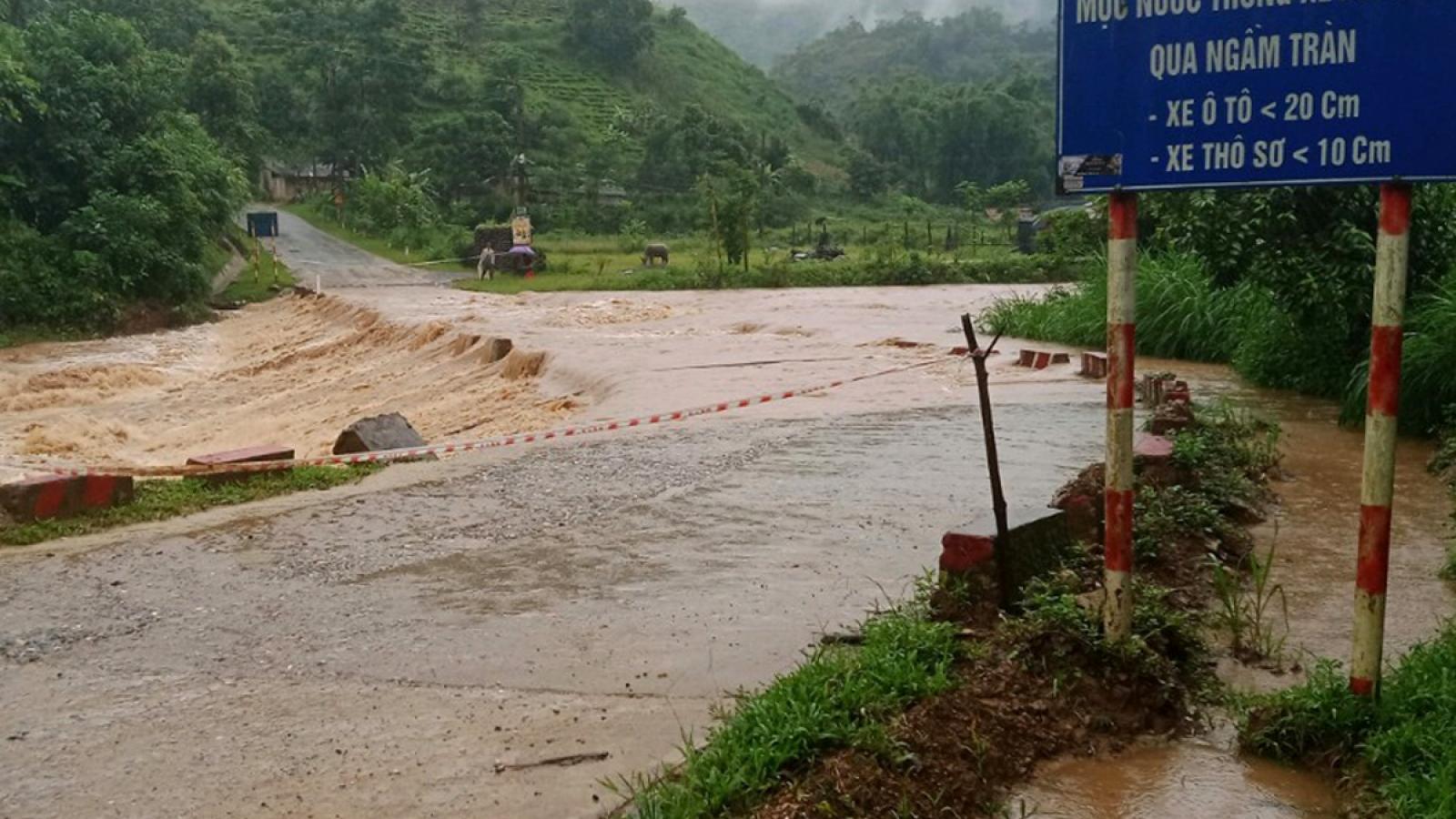 Mưa lớn ở Lai Châu gây ngập úng nhiều tuyến quốc lộ, tỉnh lộ