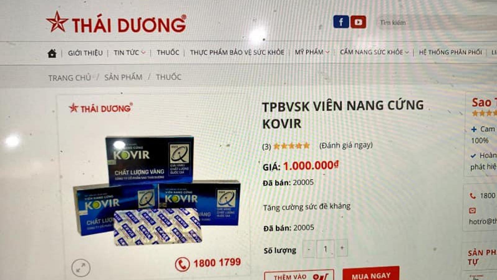 Thuốc Kovir tăng giá chóng mặt sau khi lọt danh sách 12 sản phẩm hỗ trợ điều trị Covid-19