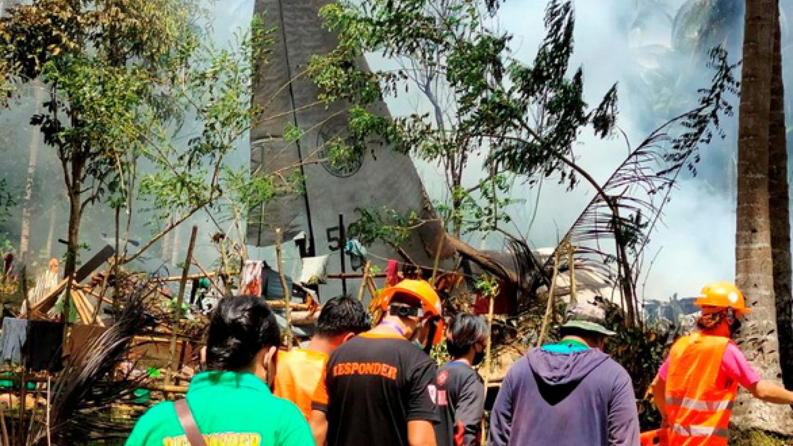Philippinestìm thấy hộp đen của máy bay rơi làm hơn 50 người thiệt mạng