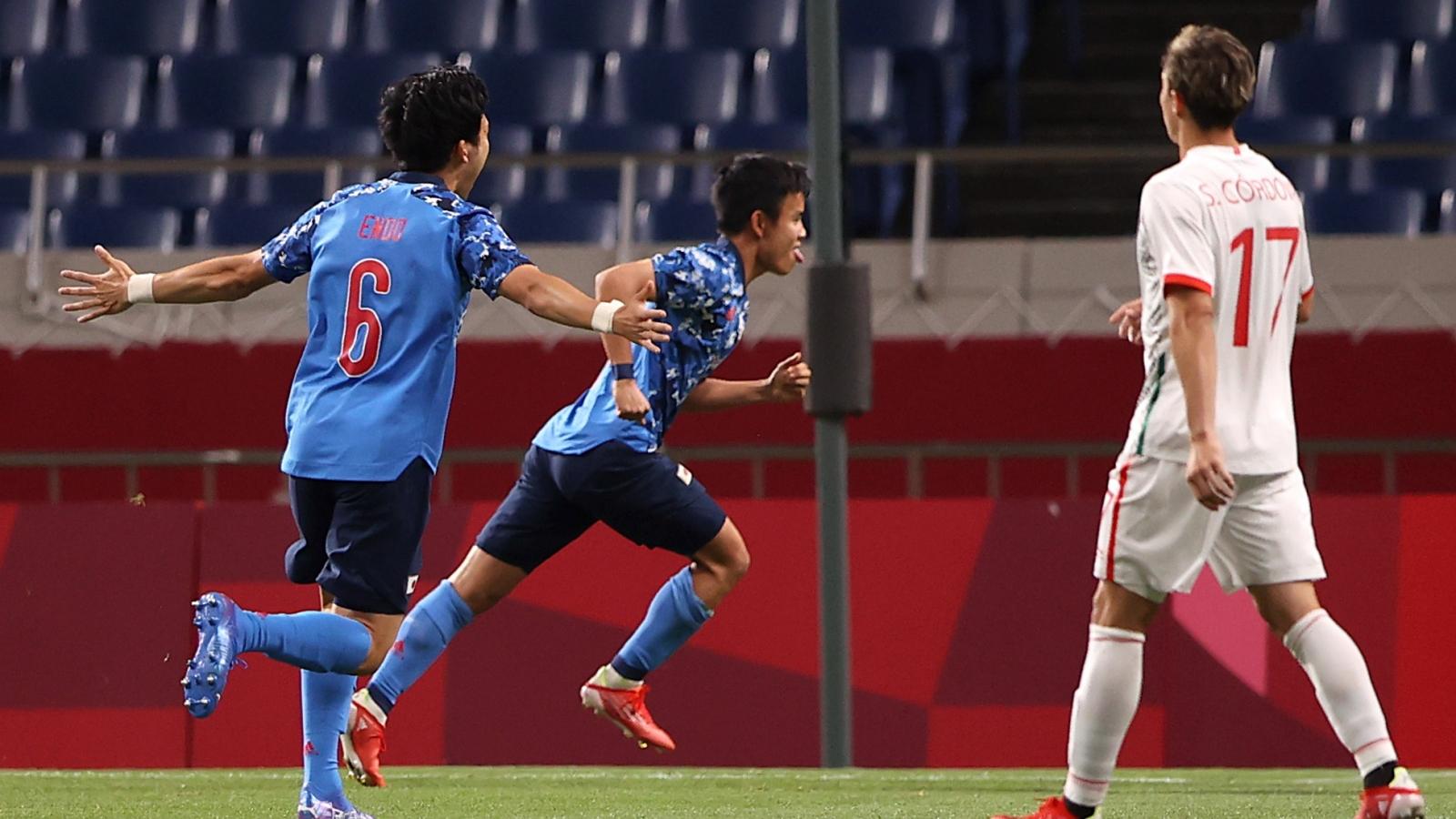 BXH bóng đá nam Olympic Tokyo 2020: Tây Ban Nha vượt khó, Nhật Bản tiến sát tứ kết