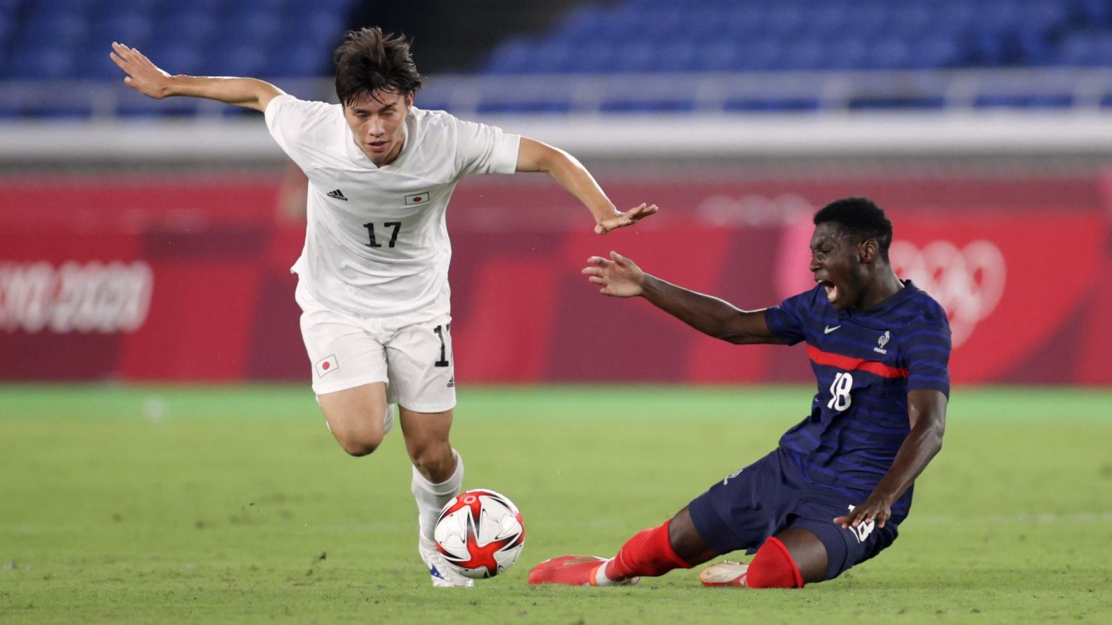 Trực tiếp Pháp 0-2 Nhật Bản: Kubo, Sakai rực sáng