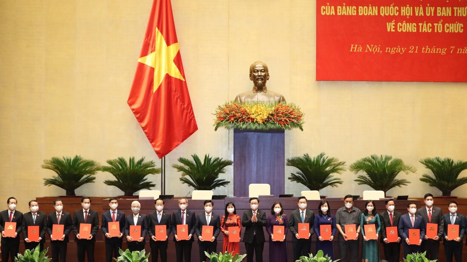Chủ tịch Quốc hội dự Lễ công bố trao quyết định, nghị quyết về công tác cán bộ