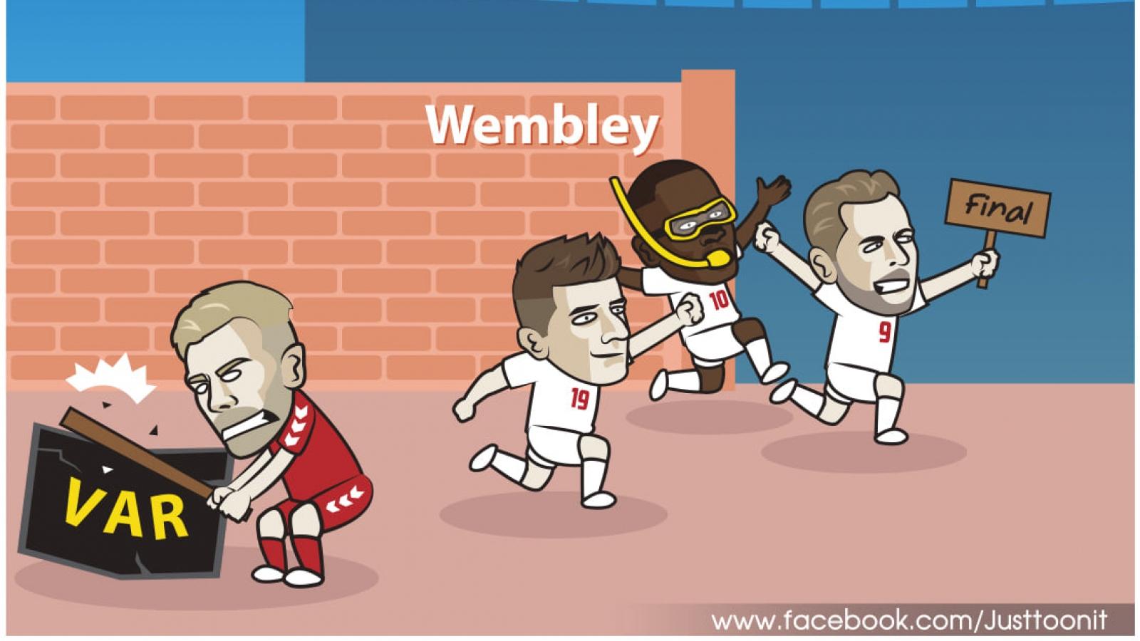 """Biếm họa 24h: ĐT Anh """"méo mặt"""" vì điềm dữ trước chung kết EURO"""