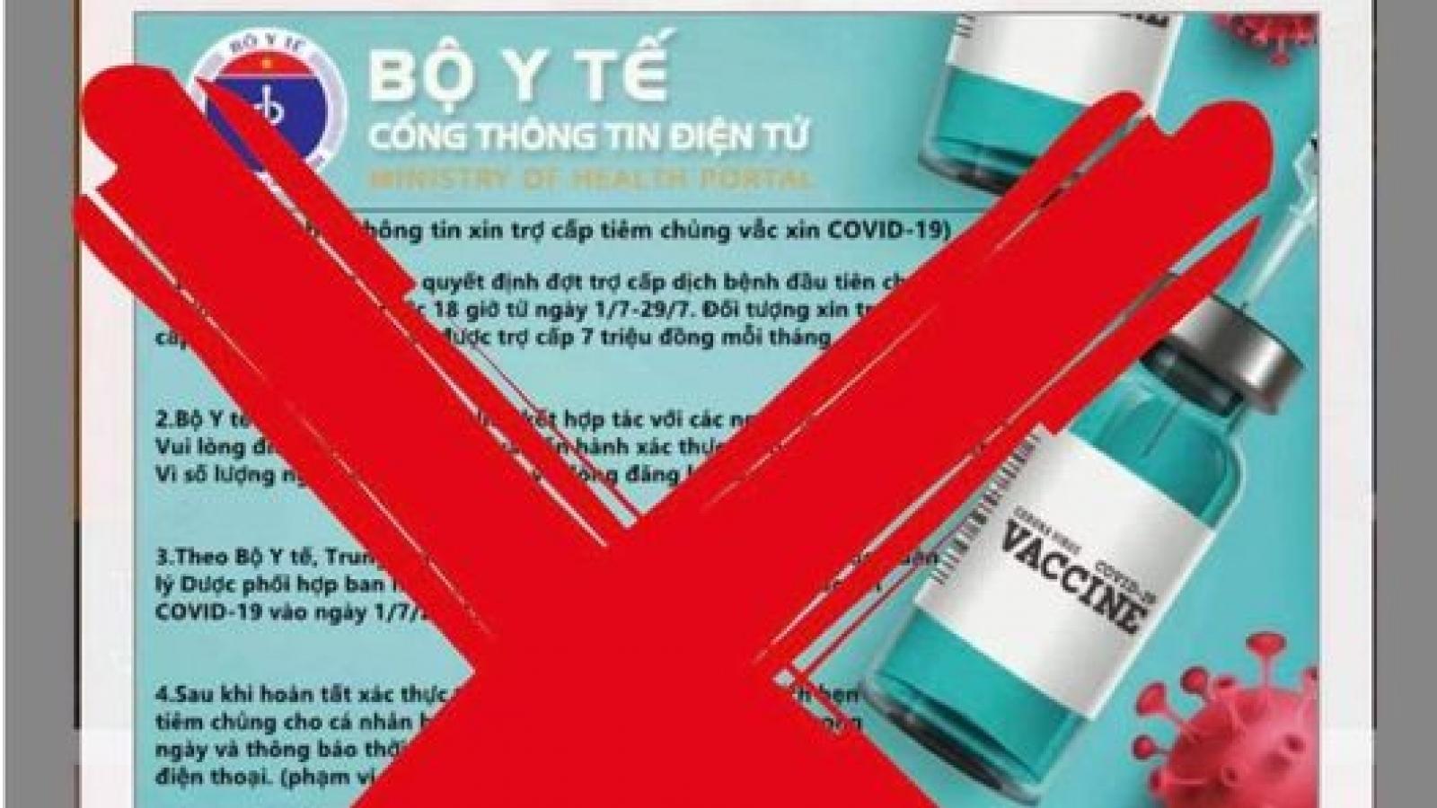 Cảnh báo website giả mạo Cổng thông tin điện tử của Bộ Y tế