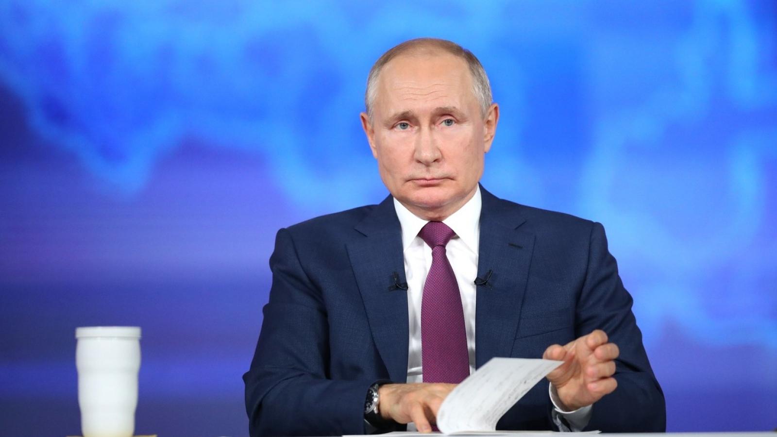 Tổng thống Nga Putin phê duyệt Chiến lược An ninh Quốc gia