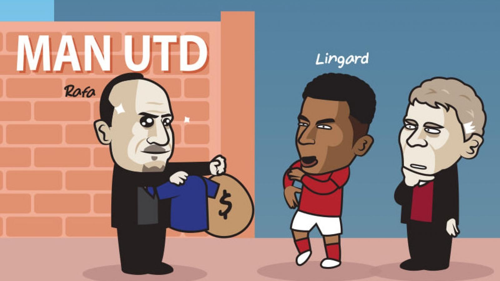 """Biếm họa 24h: Everton muốn """"cướp"""" Lingard khỏi MU"""