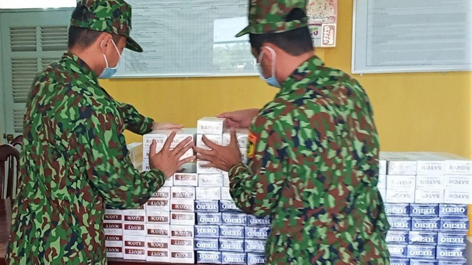 Bắt giữ số lượng lớnthuốc lá ngoại nhập lậu tại An Giang