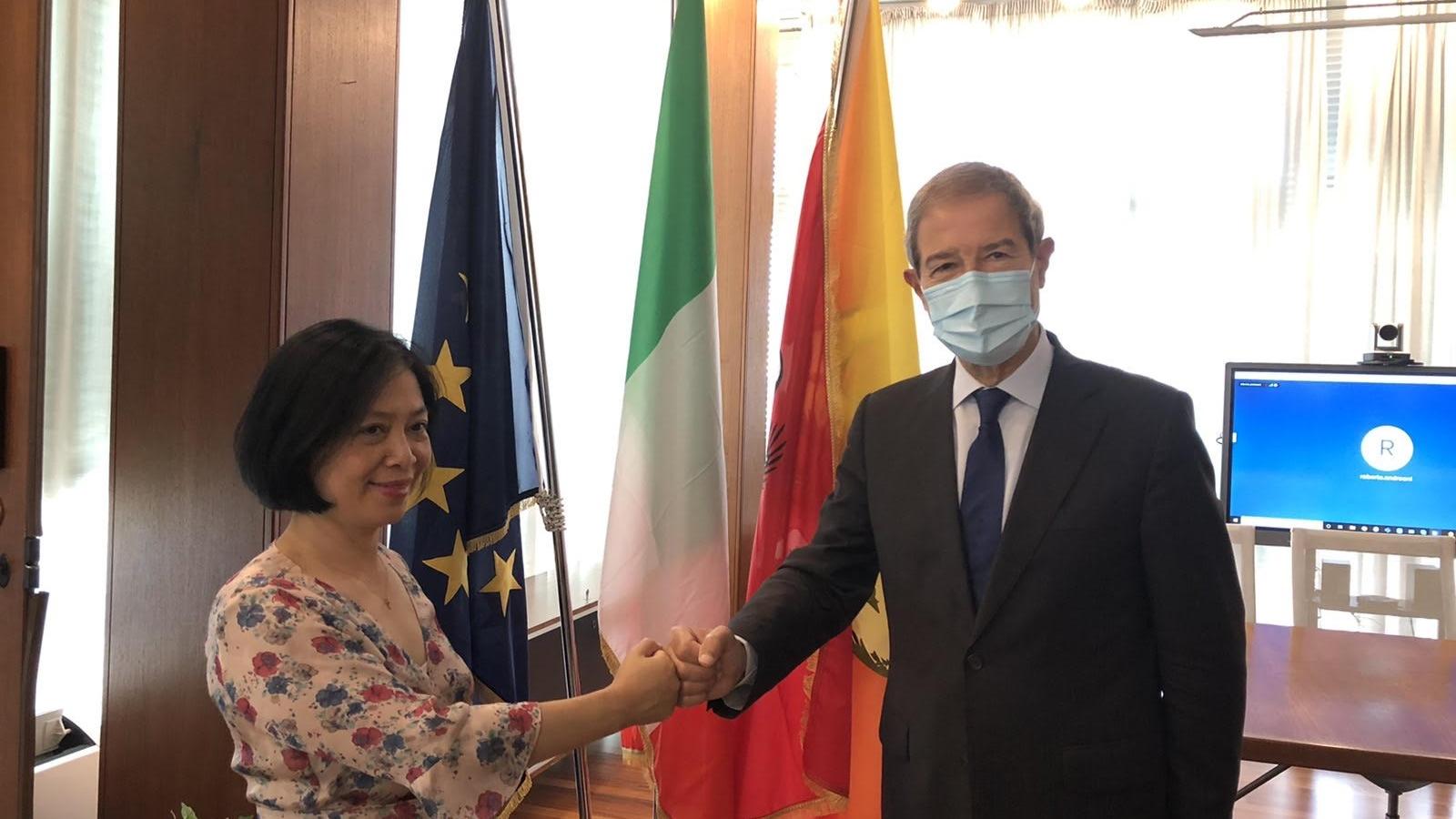 Đại sứ Việt Nam tại Italy thúc đẩy hợp tác trên nhiều lĩnh vực với vùng Sicilia