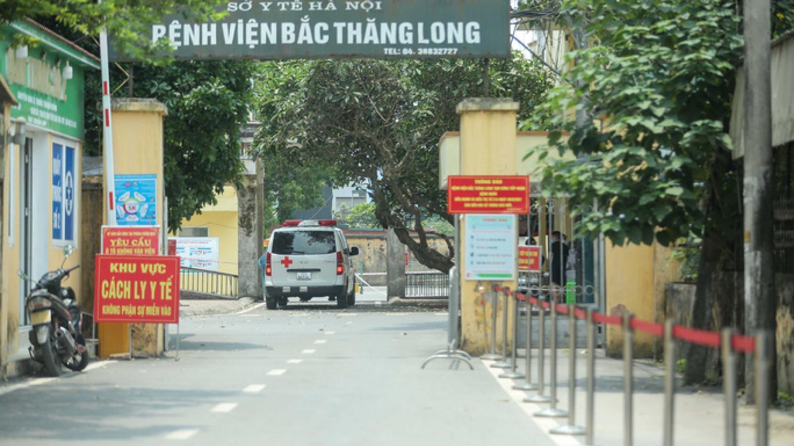 Nữ điều dưỡng Bệnh viện Bắc Thăng Long dương tính với SARS-CoV-2