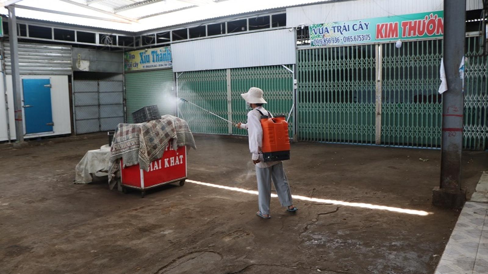 Ninh Thuận tiếp tục tạm ngưng hoạt động chợ nông sản lớn nhất