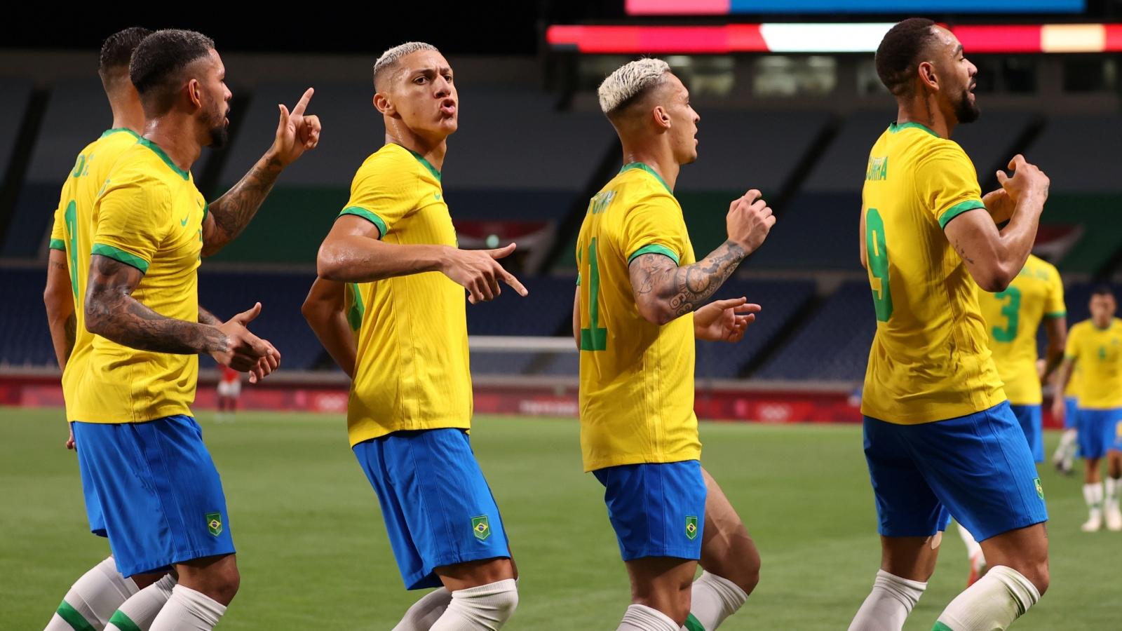 Thắng dễ Ai Cập, Brazil vào bán kết bóng đá nam Olympic Tokyo 2020