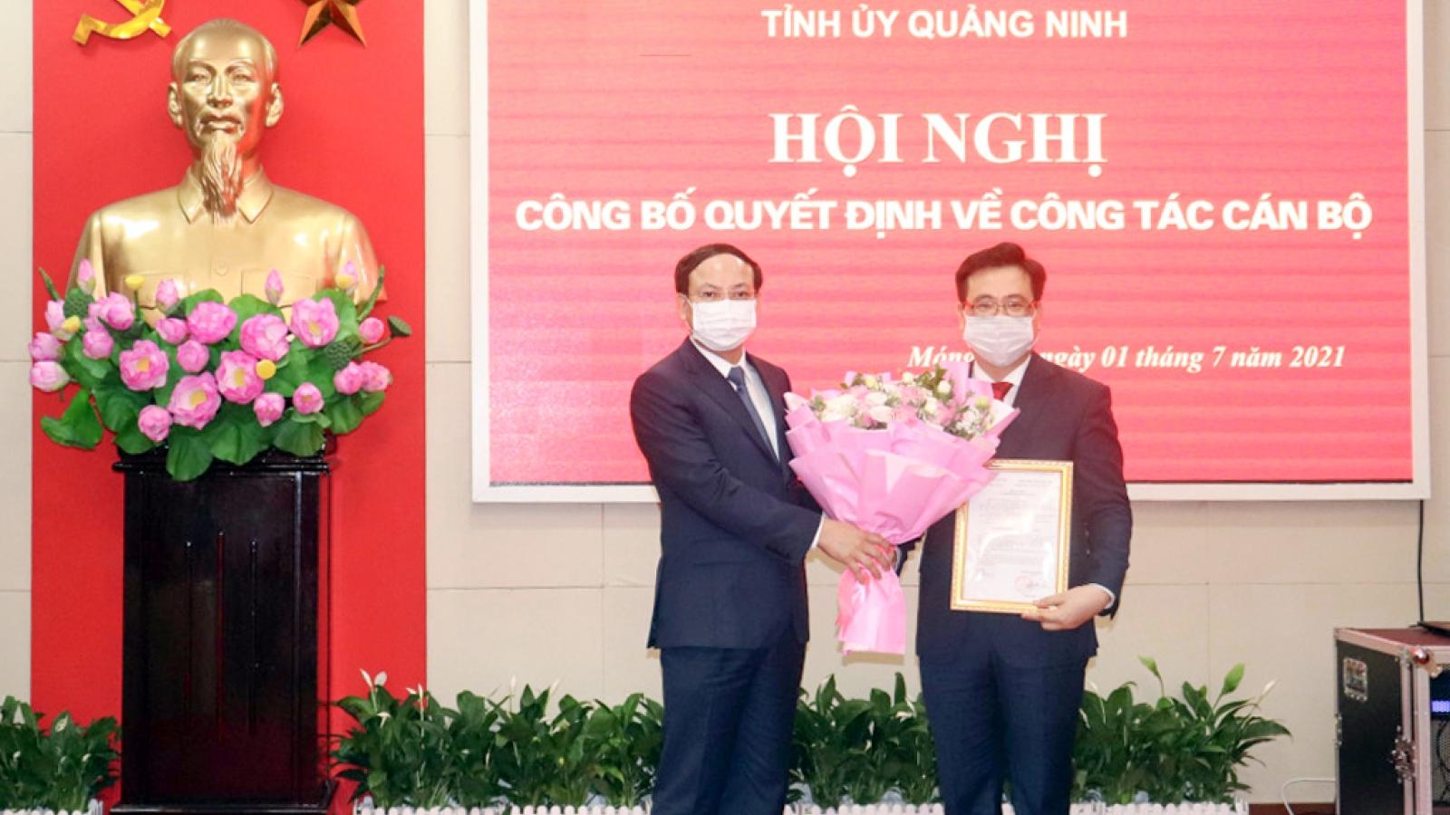 Điều động 2 giám đốc sở làm Bí thư Thành ủy Móng Cái và Bí thư Thị ủy Đông Triều