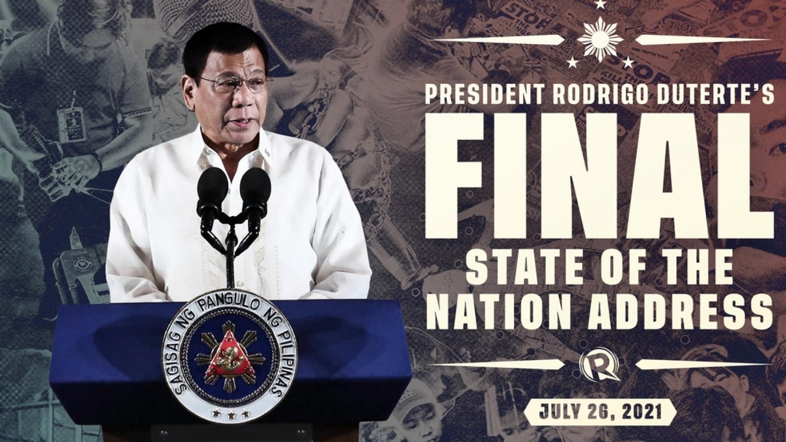 Tổng thống Philippines Duterte sắp có diễn văn cuối cùng, với giao thức y tế nghiêm ngặt