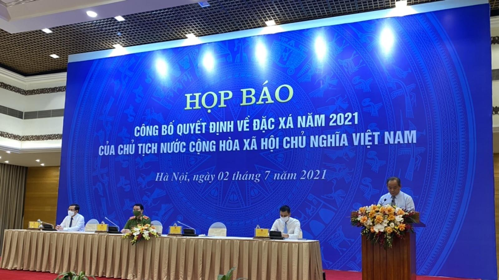 Công bố quyết định về đặc xá dịp Quốc khánh năm 2021