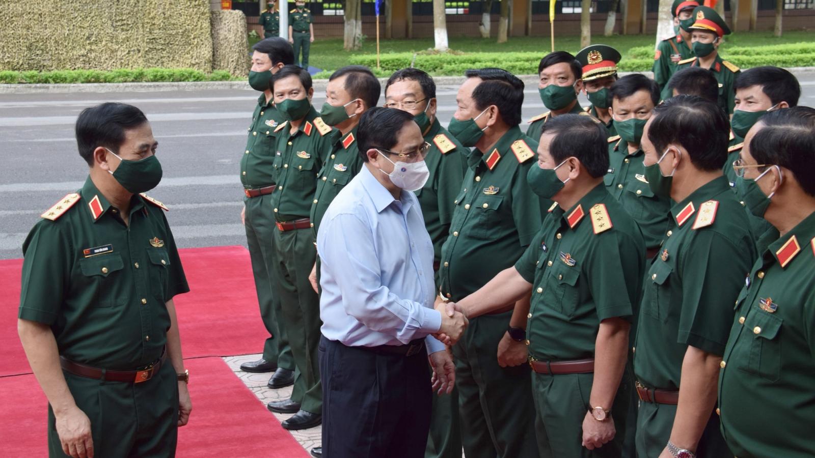 Thủ tướng Phạm Minh Chính dự Hội nghị Quân chính toàn quân
