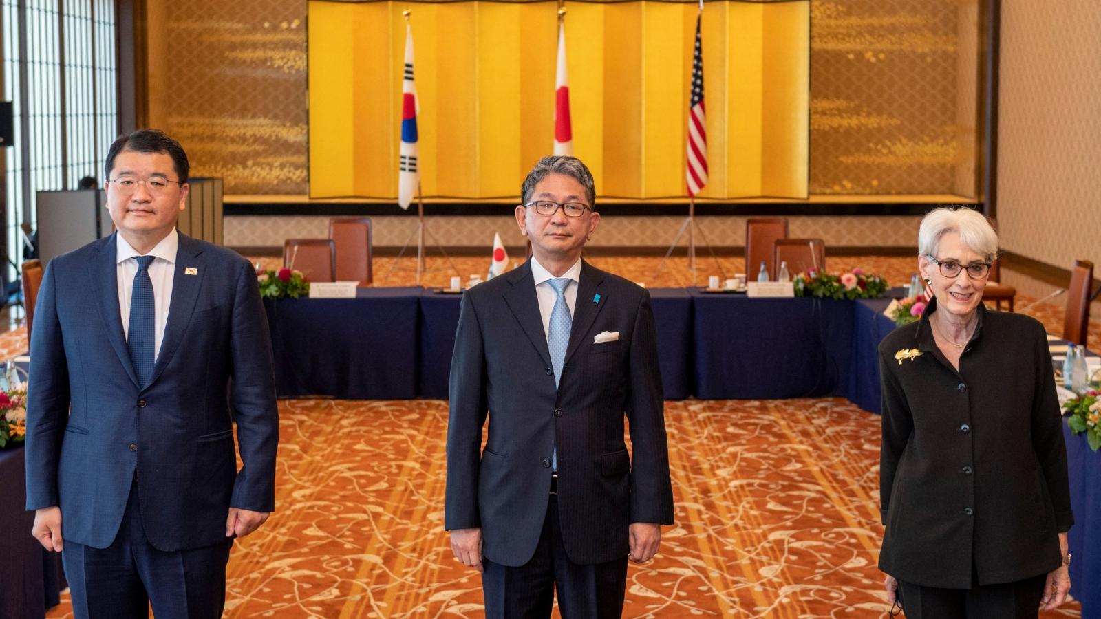 Hội nghị Mỹ - Nhật - Hàn cam kết duy trì Ấn Độ Dương - Thái Bình Dương tự do và rộng mở