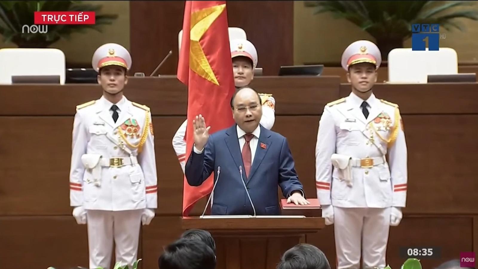 Chủ tịch nước Nguyễn Xuân Phúc tuyên thệ và phát biểu nhậm chức