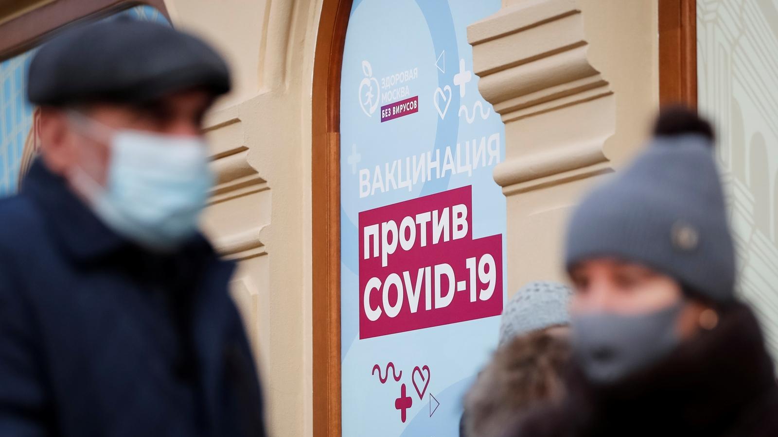 Nga ghi nhận số ca tử vong Covid-19 trong ngày cao kỷ lục do biến thể Delta lây lan nhanh