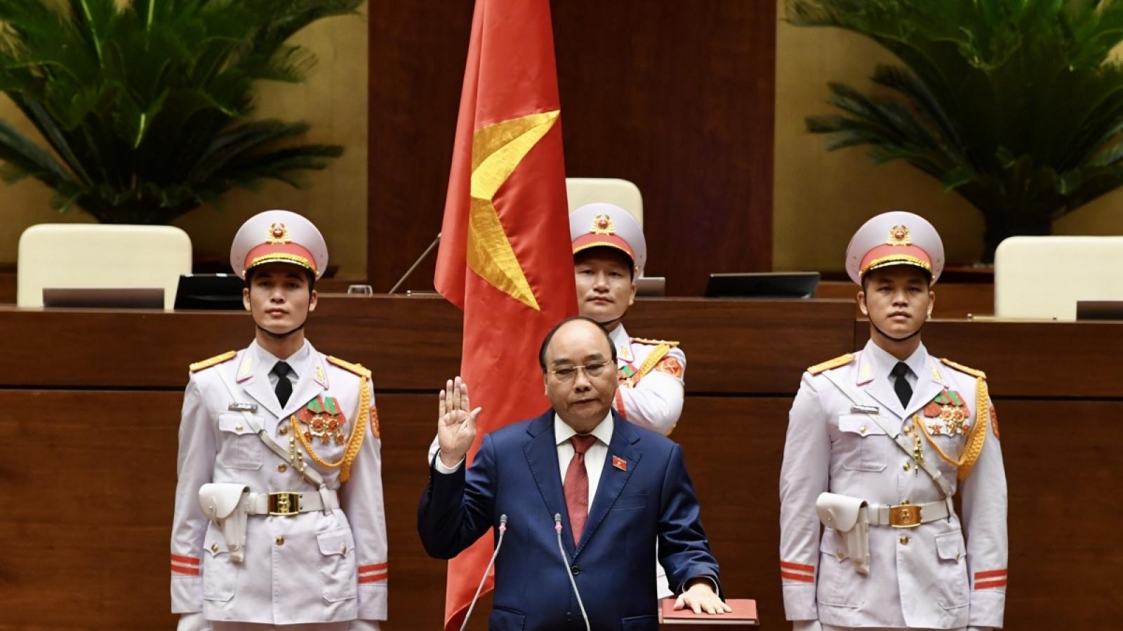 Điện mừng lãnh đạo cấp cao Việt Nam được bầu lại tại Kỳ họp thứ nhất, Quốc hội khóa XV