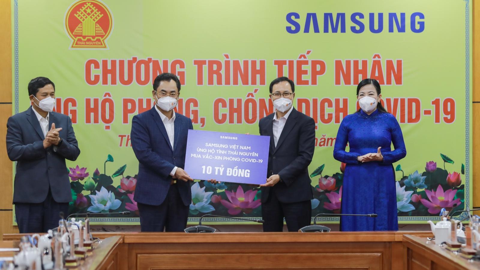 Samsung Việt Nam trao tặng gần 11 tỷ đồng cho tỉnh Thái Nguyên phòng, chống Covid -19